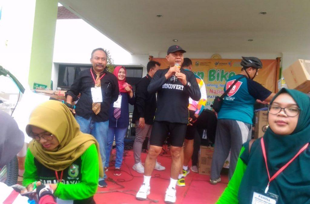 Ribuan Gowes Ikuti Fun Bike HKN ke 55
