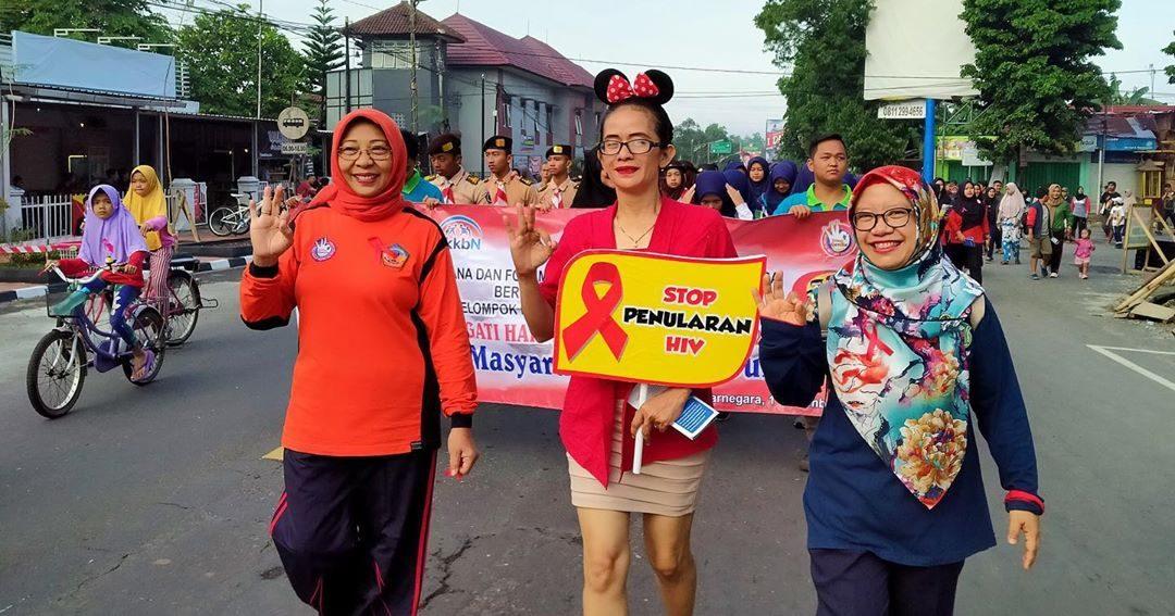 Peringatan Hari Aids Sedunia (HAS) 2019 di Car Free Day Banjarnegara