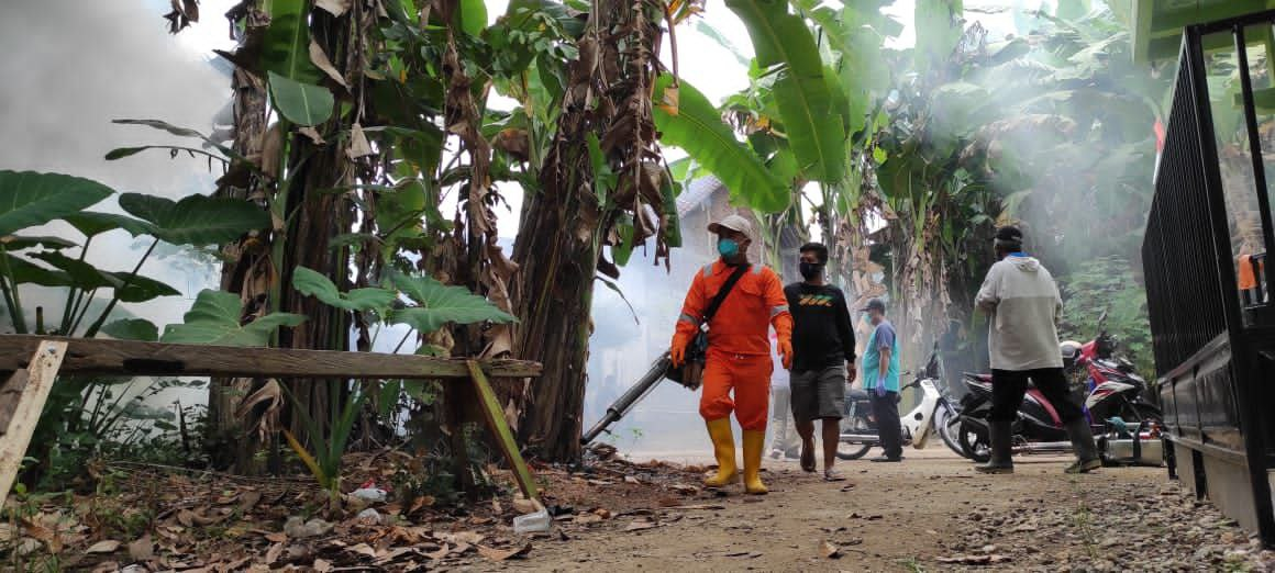 Pelaksanaan Fogging di Desa Mandiraja Wetan